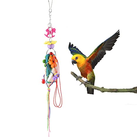 Pssopp Juguete para Masticar pájaros, Bloques de Madera de Colores ...
