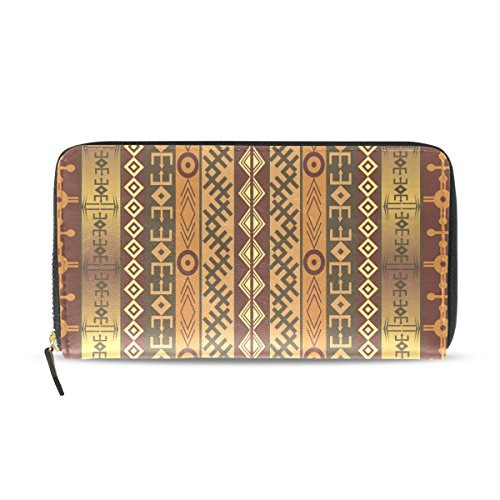 Womens Zipper Wallet Africa Peronal Character Clutch Purse Card Holder Bag by WIHVE