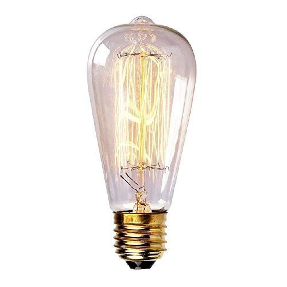 60 Watt Marconi Squirrel Cage Filament Bulb - 1910 Edison Style (6 Pack)