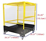 39.37''39.37'' Forklift Safety Cage Work Platform Lift Basket Aerial Fence Rails Yellow 2 man
