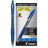 Pilot G2 Retractable Premium Gel Ink Roller Ball Pens, Fine Point, Blue Ink, Dozen Box -31021
