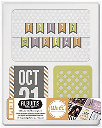 We R Memory Keepers Journal Cards-embrujada/Lote as a Pack of 2: Amazon.es: Hogar
