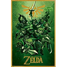 Posters: The Legend Of Zelda Poster - Link Fighting (36 x 24 inches)