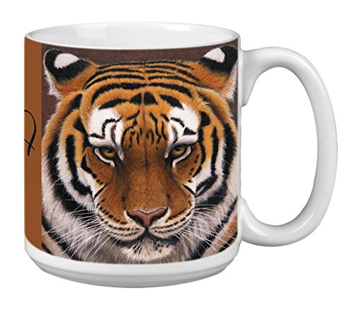 (Siberian Tiger Extra Large Mug 20-Ounce Jumbo Ceramic Coffee Mug Cup, Wildlife Themed Art - Gift for Animal Lovers (XM29732) Tree-Free Greetings)