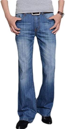 Zantt Pantalones Vaqueros Para Hombre Corte Clasico Estilo Casual Acampanado Pantalones Vaqueros Color Azul Us 33 Amazon Com Mx Ropa Zapatos Y Accesorios