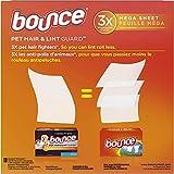 Bounce Pet Hair and Lint Guard Mega Dryer Sheets