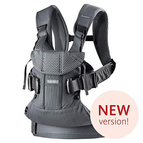 BabyBj rn Baby Carrier One Air, 3D Mesh, Anthracite, One Size