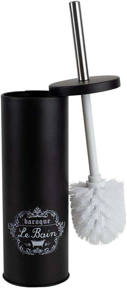 Home Basics, Black Paris Le Bain Hide-Away Toilet Brush Holder