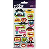 Sticko Classic Funny Mouths & Mustaches Stickers