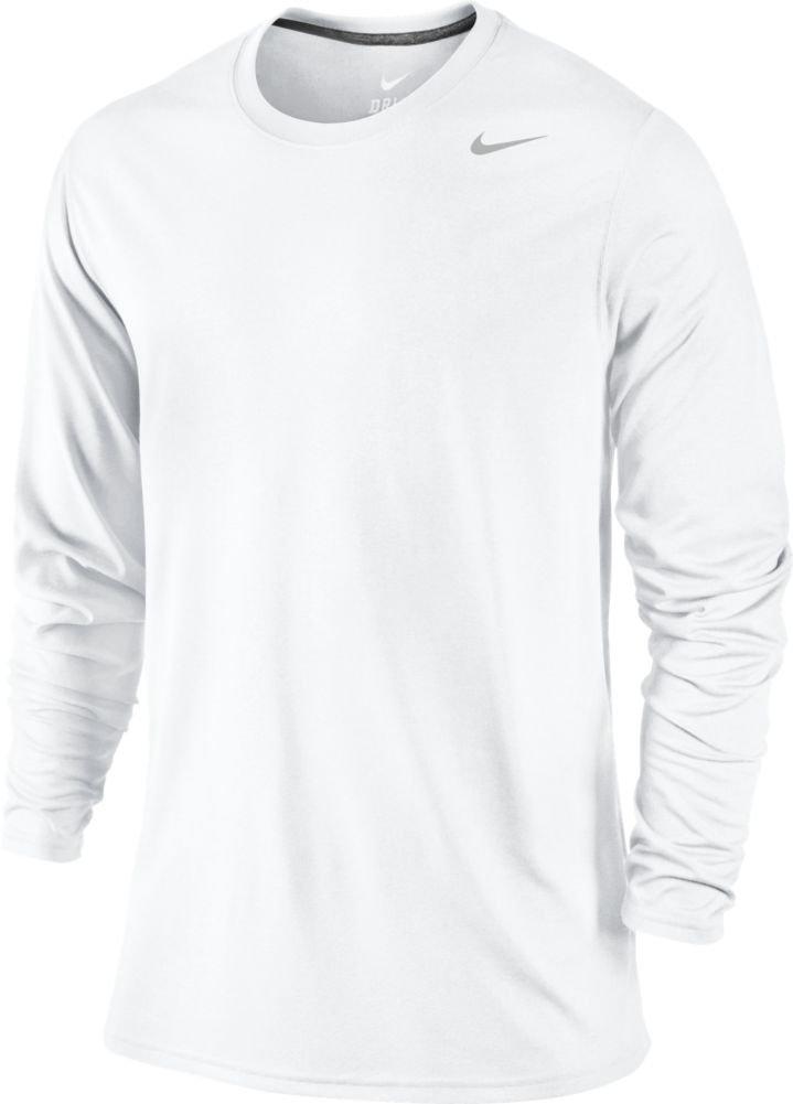 dc3d60e573643 Galleon - Nike Mens Legend Poly Long Sleeve Dri-Fit Training Shirt  White Carbon Heather 377780-100 Size X-Large