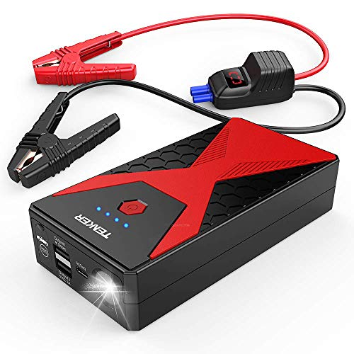 TENKER 1200A Portable Car Jump Starter Auto Battery Booster Pack with Dual USB Outputs