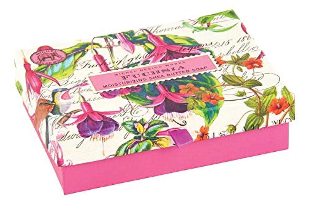千費用支出Michel Design Works Triple Milled Double Soap Box Set, Fuchsia [並行輸入品]