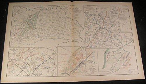 1890 Antique Map - 4