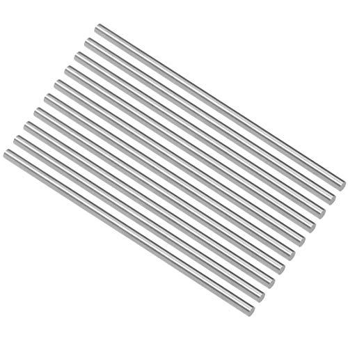3.5 Mm Shaft - uxcell HSS Lathe Round Rod Solid Shaft Bar 3.5mm Dia 100mm Length 10Pcs
