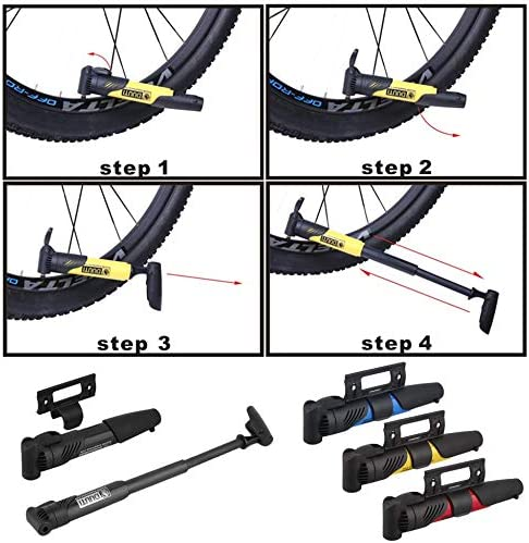 ClookYuan Port/átil Ligero Bicicleta Bicicleta Ciclo Compacto ABS Pl/ástico Bomba V/álvulas Neum/ático Neum/ático Tubo Inflador con acci/ón telesc/ópica Negro