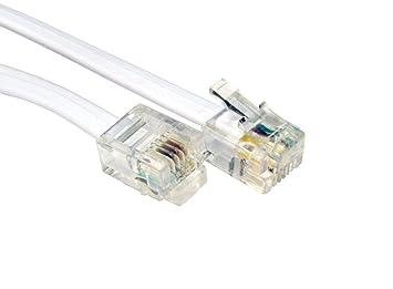 RJ11 RJ-11 ADSL 4 Wire 6P4C Internet Cable Phone Lead: Amazon.co.uk ...