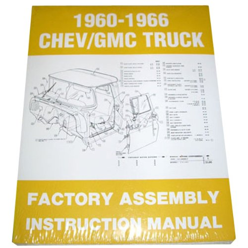 1960 61 62 63 64 65 66 Chevy Truck Factory Assembly Manual Chevrolet GMC Pickup Truck Suburban Blazer Jimmy Panel