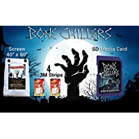 AtmosFX Bone Chillers SD Card HD 1080p With Easy To Hang Grommet Screen