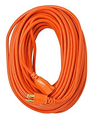 Southwire 2309SW8803 16/3 Vinyl Outdoor Extension Cord, Weather Resistant Flexible Vinyl Jacket, 3- Pronged, 100-Foot Extension Cord, 10 AMP, 1250 Watts, Orange