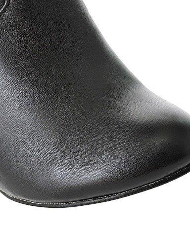 XZZ/ Damen-Stiefel-Outddor / Büro / Lässig-Kunstleder-Stöckelabsatz-Absätze / Modische Stiefel-Schwarz / Blau / Braun / Weiß / Grau brown-us8.5 / eu39 / uk6.5 / cn40