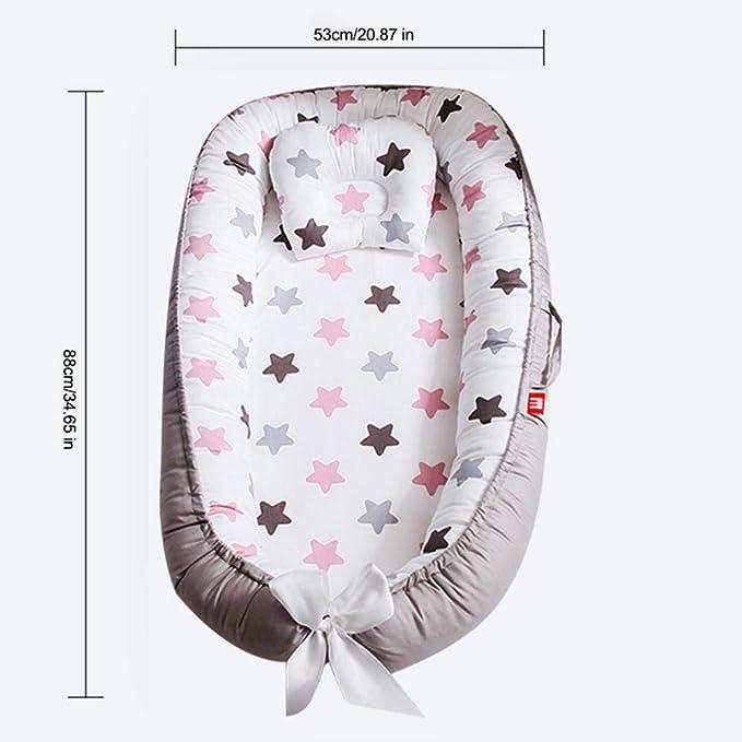 FOONEE Tumbona de bebé recién Nacido para Dormir Juntos, Cama Nido de bebé portátil Multifuncional 100% algodón orgánico Tumbona recién Nacida Suave y ...