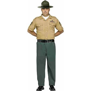 Fun World Men's Marine Drill Instructor Adult Costume, Multi Standard