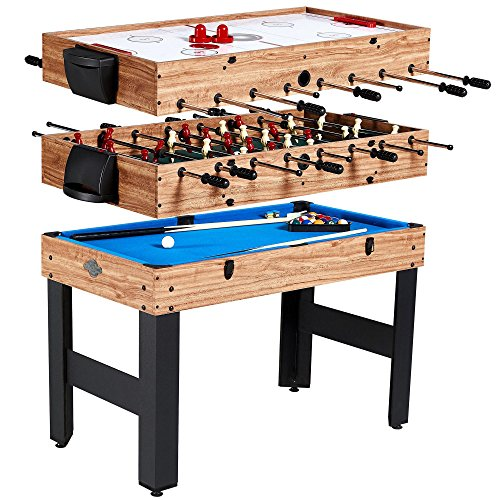 "Lancaster 48"" 3 in 1 Pool Billiard Slide Hockey Foosball Combo Arcade Game Table"