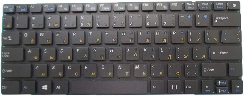 Laptop Keyboard for Inphtech U731IT U700 U900 Russia RU Black Without Frame