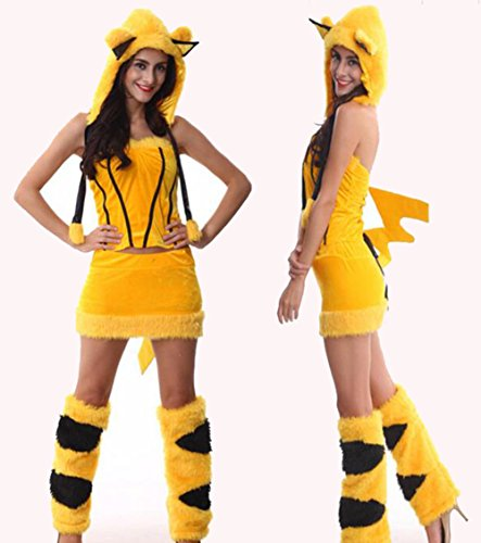 [Pikachu COSPLAY Costume Incluing All Have] (Pikachu Costumes Women)