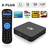 2017 Android Tv Box 2GB RAM 16GB ROM,U2C X Plus Android 7.1 Smart TV Box Amlogic S912 Octa-Core Ultra HD 2.4G 5G Dual-Band WIFI 64 Bit Bluetooth 4K [Pure Version]