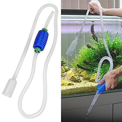 Aspirador de fondo Acuario ESS Tech® tubos sifón de limpieza Gravier arena y agua acuario