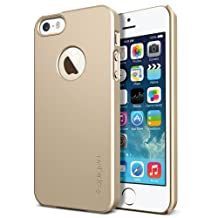 Spigen Ultra Fit A iPhone 5S / iPhone 5 Case with 1 Screen Protector and Logo Window Feature for Apple iPhone 5S / iPhone 5 - Champagne Gold