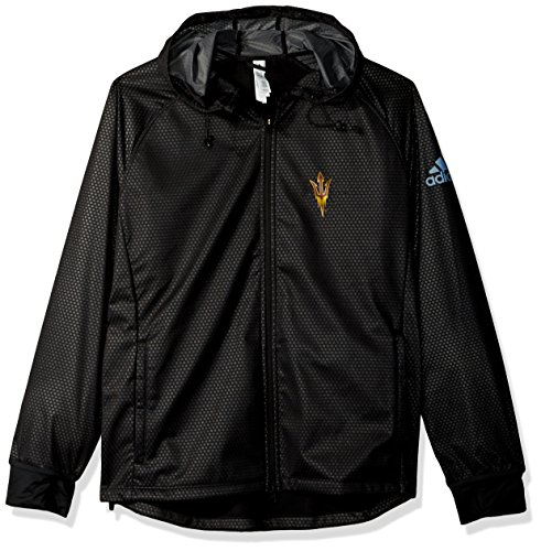adidas NCAA Arizona State Sun Devils Adult Women Team Logo Climastorm Full Zip Jacket, Medium, Black
