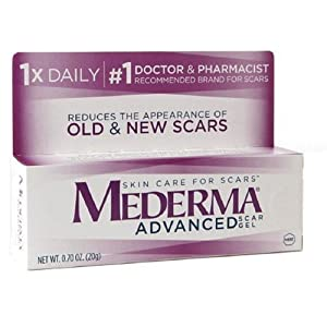 Mederma Skin Care Advanced Scar Gel, 0.7 Oz (Pack of 3)
