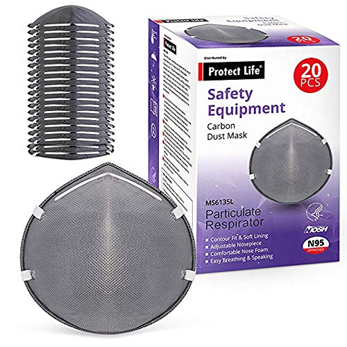 Disposable Dust Mask w/Carbon Filter (20 pack) - N95 for sale  Delivered anywhere in USA