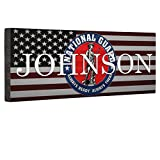 Hero National Guard Flag CANVAS Wall Art Home Décor