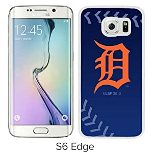 Grace Protactive Detroit Tigers White Case Cover for Samsung Galaxy S6 Edge