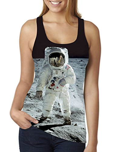 - RAISEVERN Astronaut on the Moon Printed Sleeveless Shirts Vest Tank Tops,Astronaut,One Size