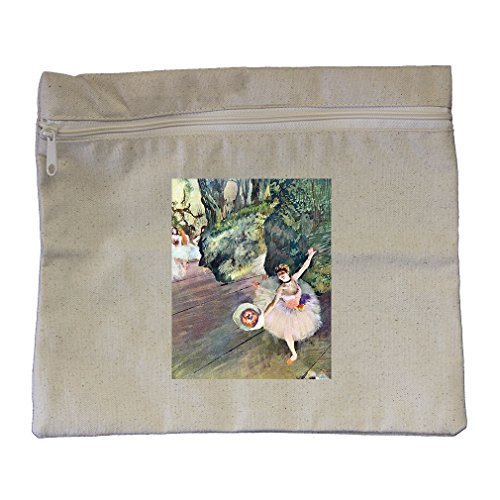 Dancer Bouquet Flowers Star Ballet (Degas) Canvas Zippered Pouch Makeup Bag (Bag Ballet Degas)