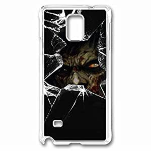 Zombie Custom Back Phone Case for Samsung Galaxy Note 4 PC Material Transparent -1210094