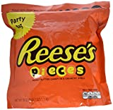 REESE'S PIECES Candy, Peanut Butter Candy in a Crunchy Shell, 39 Ounce Resealable Pouch