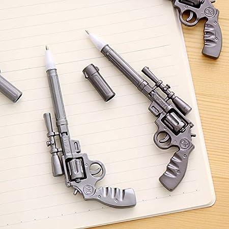 TMROW Creative Pistol Shotgun Shape Ballpoint Pen Cute Gel Ink Writing Pens for School Office Supply Gift Stationery Party Favors 4PCS Random Color