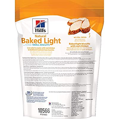 Hill's Dog Treats Baked Light Dog Biscuits with Real Chicken for Small Dog, Healthy Dog Snacks, 8 oz Bag