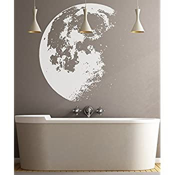Amazon Com Full Moon Wall Decal Cutout 24 Quot X24 Quot Home