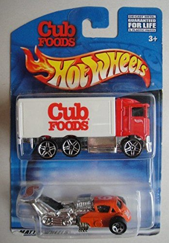 hot-wheels-2-pack-cub-foods-red-white-hiway-hauler-and-silver-red-whatta-drag