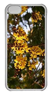 Customized iphone 5C PC Transparent Case - Yellow Gulmohar Flowers Personalized Cover