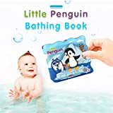 Ecurson♥Floating Kids Books for Bathtub,Little Penguin. Waterproof Educational Toy for Baby or Toddler. Bath Time Learn & Play.