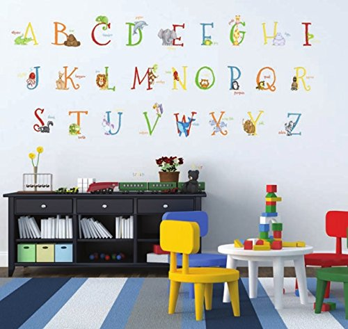 Borders Unlimited Alphabet Animals Super Jumbo (Jumbo Wall Appliques)