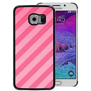 Red-Dwarf Colour Printing Candy Pink Lines Parallel Pattern Fuchsia - cáscara Funda Case Caso de plástico para Samsung Galaxy S6 EDGE SM-G925