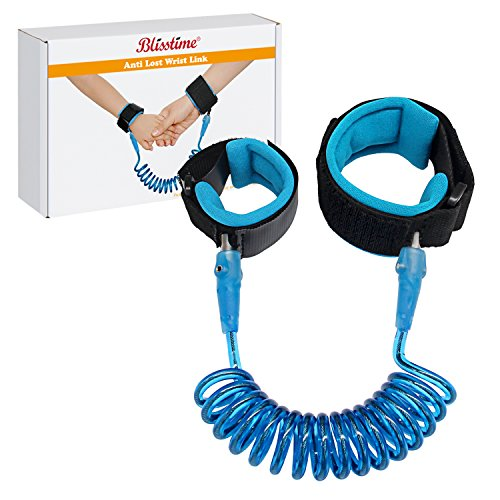 Anti Lost Wrist Link Safety Wrist Link for Toddlers, Babies & Kids (Blue) by Blisstime (Child Leash Wrist)